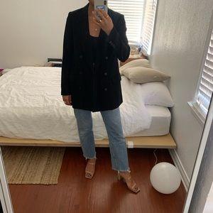 aritzia women's oversized black blazer
